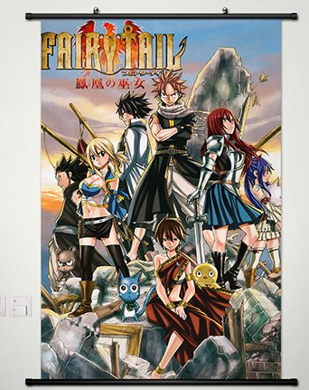 Wall Scroll Poster Fabric Painting For Anime Fairy Tail Key