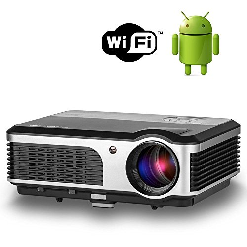 WiFi projector Portable 2600 Lumens Home Theater 1080p HD...
