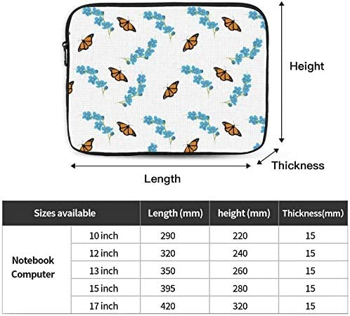Floral Pattern Laptop Sleeve Bag Evecase Neoprene Universal Sleeve Zipper Protective Cover Case 12 Inch for Notebook