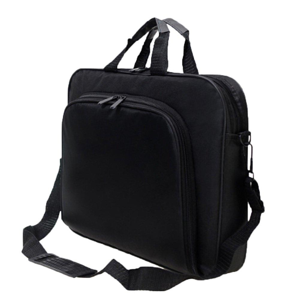 Messenger Bag For 15 Inch Laptop Computer Bag Macbook Shoulder Bag Business Backpack College Bookbag Travel Business Backpack Black Bag by FL Margaret (Image #3)