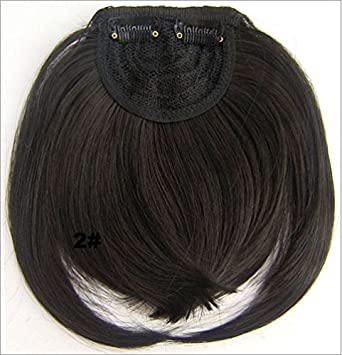 Fashion Hair Bang Two Side Long Synthetic Fringe Hairpiece With Band Extensions Clip In