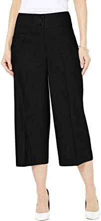 Alfani Womens High Waist Straight Leg Culottes