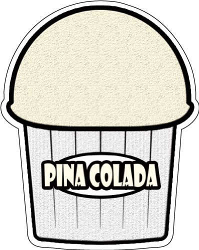 PINA Colada Flavor Italian Ice Decal Shaved ice cart Trailer Stand Sticker