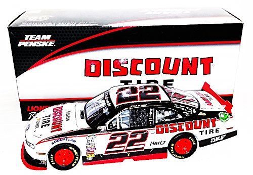 autographed-2014-ryan-blaney-22-discount-tire-racing-nationwide-series-signed-lionel-1-24-nascar-roo