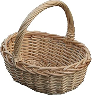 Red Hamper Childs Oval Shopping Basket Wicker Brown 18 X 24 10