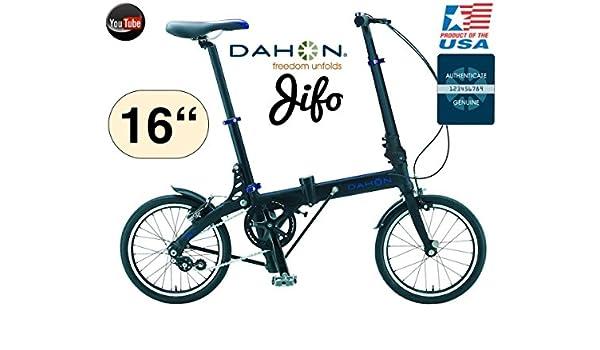 Bicicleta DAHON JIFO 40.64 cm/ultra compacto 9,1 kg modelo 2015/16: Amazon.es: Deportes y aire libre