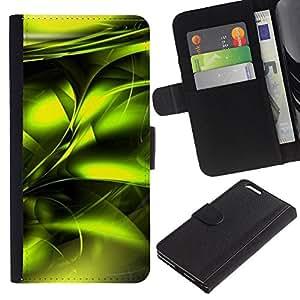 KLONGSHOP // Tirón de la caja Cartera de cuero con ranuras para tarjetas - Veneno vibrante metálico Negro - Apple Iphone 6 PLUS 5.5 //