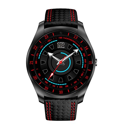 Price comparison product image Lywey Waterproof Camera SIM TF Card Heart Rate 'Technology Innovation' Pedometer BT4.0 Real-time Heart Rate Wristwatch Smart Watch With Color Screen 380mAh Battery (Black)