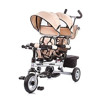 Chipolino - Triciclo para gemelos (beige, Apollo) beige