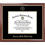 Arizona State University Sun Devils - Embossed Seal - Mahogany Gold Trim - Diploma Frame