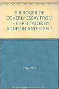 Addison and steele essay
