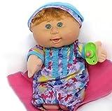"Cabbage Patch Kids 12.5"" Naptime Babies (Girl, Light Tone, Strawberry Blonde Hair, Green Eyes, Ruffles)"