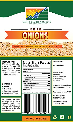 Mother Earth Products Dehydrated Onions by Mother Earth Products