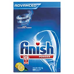FINISH Electrosol Automatic Dishwasher Detergent, Lemon Scent, Powder, 2.3 qt. Box - six 2.3-quart boxes per case.