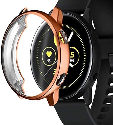 Maxku Galaxy Watch Active TPU 保護ケース アンチスクラッチ TPUフレーム 保護カバー プロテクターシールド 全3色 (ローズゴールド)