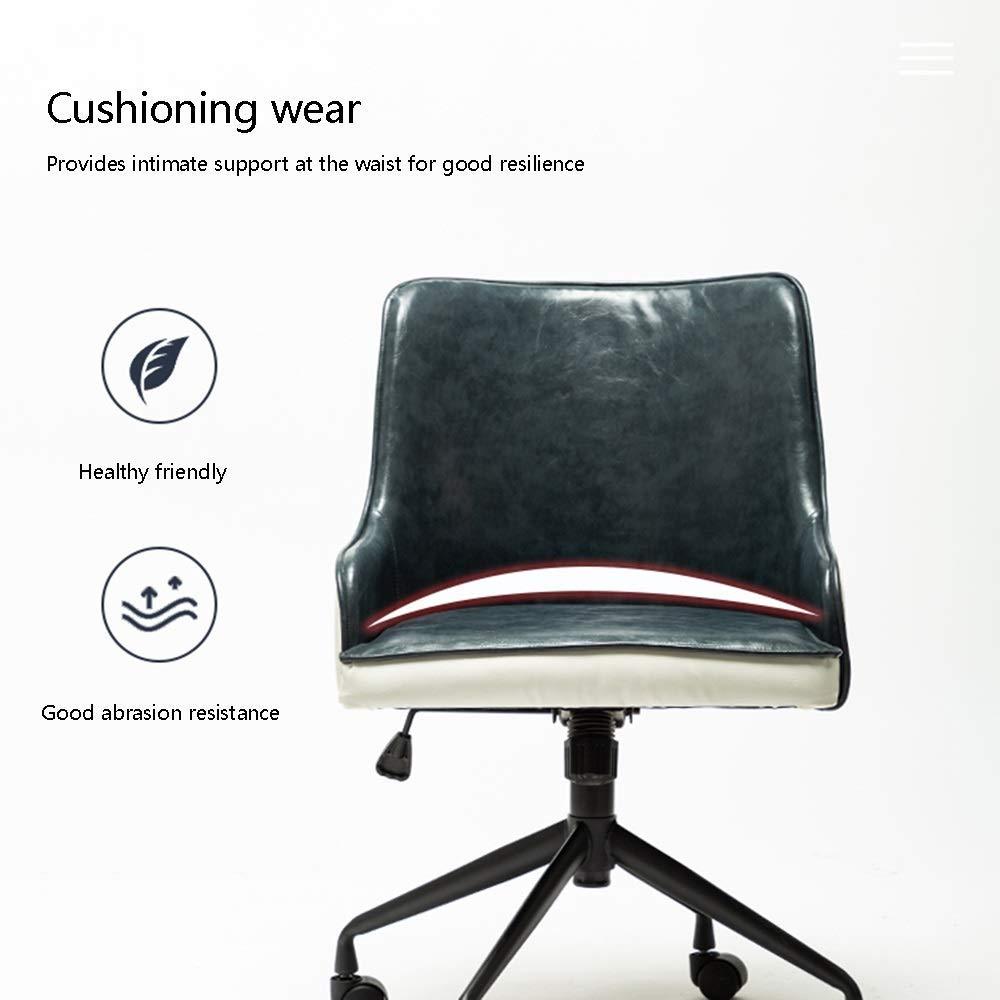 JIEER-C stol datorstol datorstol med löpningsfunktion nordiskt mode kontorsstol integrerat ryggstöd armstöd ergonomiskt lyft stol höjd justerbar för kontor mötesrum, rosa Rosa