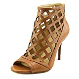 MICHAEL Michael Kors Women's Yvonne Open Toe Bootie Luggage Smooth Calf Sandal
