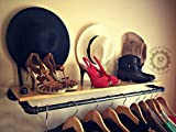 35'' Garment Rack, Shelf Rack, Clothing Rack, Industrial Decor, Steampunk Decor, Store Rack, Store Shelf, Store Display, Closet Organizer