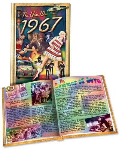 1967 Flickback Hard Cover Mini-Book:  50th Birthday or Anniversary (Fiftieth Anniversary)