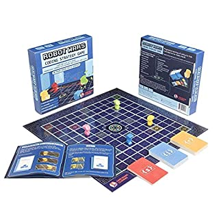 Robot Wars Coding Strategy Board Game Geeky STEM Toy - No Prior Coding Skills Required, for Kids 7 Years and Above!