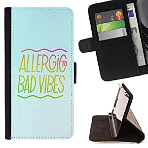 Jordan Colourful Shop - bad good vibes music energy positivity quote For HTC DESIRE 816 - < Leather Case Absorci????n cubierta de la caja de alto impacto > -