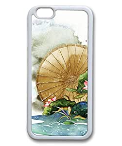 iCustomonline Fresh Lotus Flower White Rubber Back Shell for iPhone 6( 4.7 inch)