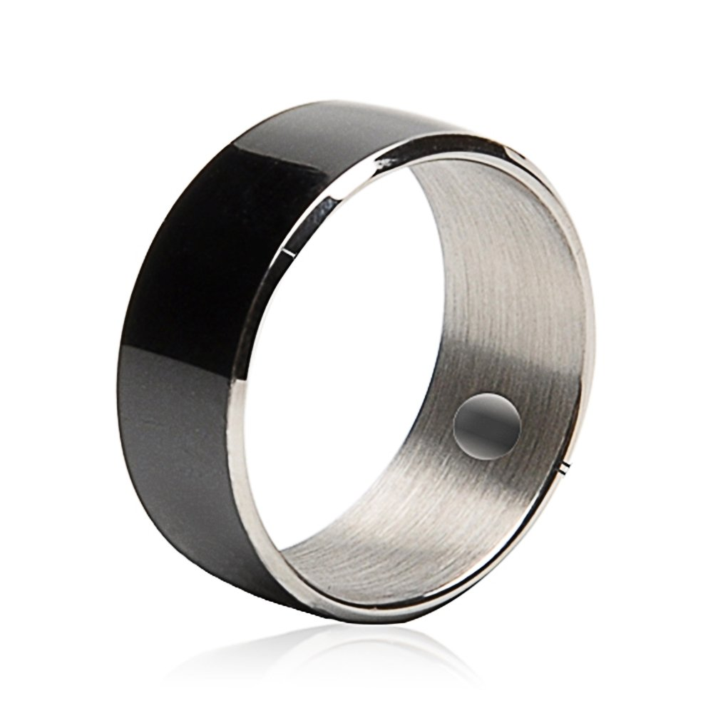 62.8mm Black Titanium Waterproof App Enabled Smart Ring NFC Smart Ring for Android Windows NFC Mobile Phones Samsung Sony