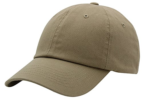 ic Plain Baseball Cap Unisex Cotton Hat For Men & Women Adjustable & Unstructured For Max Comfort Low Profile Polo Style  Unique & Timeless Clothing Accessories By Top Level, Khaki, One Size (Khaki Unstructured Adjustable Cap)