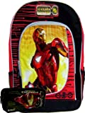 Awesome Iron Man Backpack Large Free Black Pencil Case, Bags Central