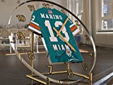 FanPlastic DAN Marino 13 Miami Dolphins Desktop Clock - National Football League Legends Edition !!
