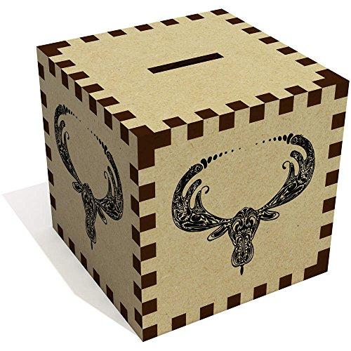 'Moose Motif' Money Box / Piggy Bank (MB00005475) - Moose Bank