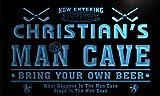 qe235-b Christian's Man Cave Hockey Bar Neon Sign