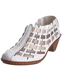 Women's Rieker, Sina woven leather casual style