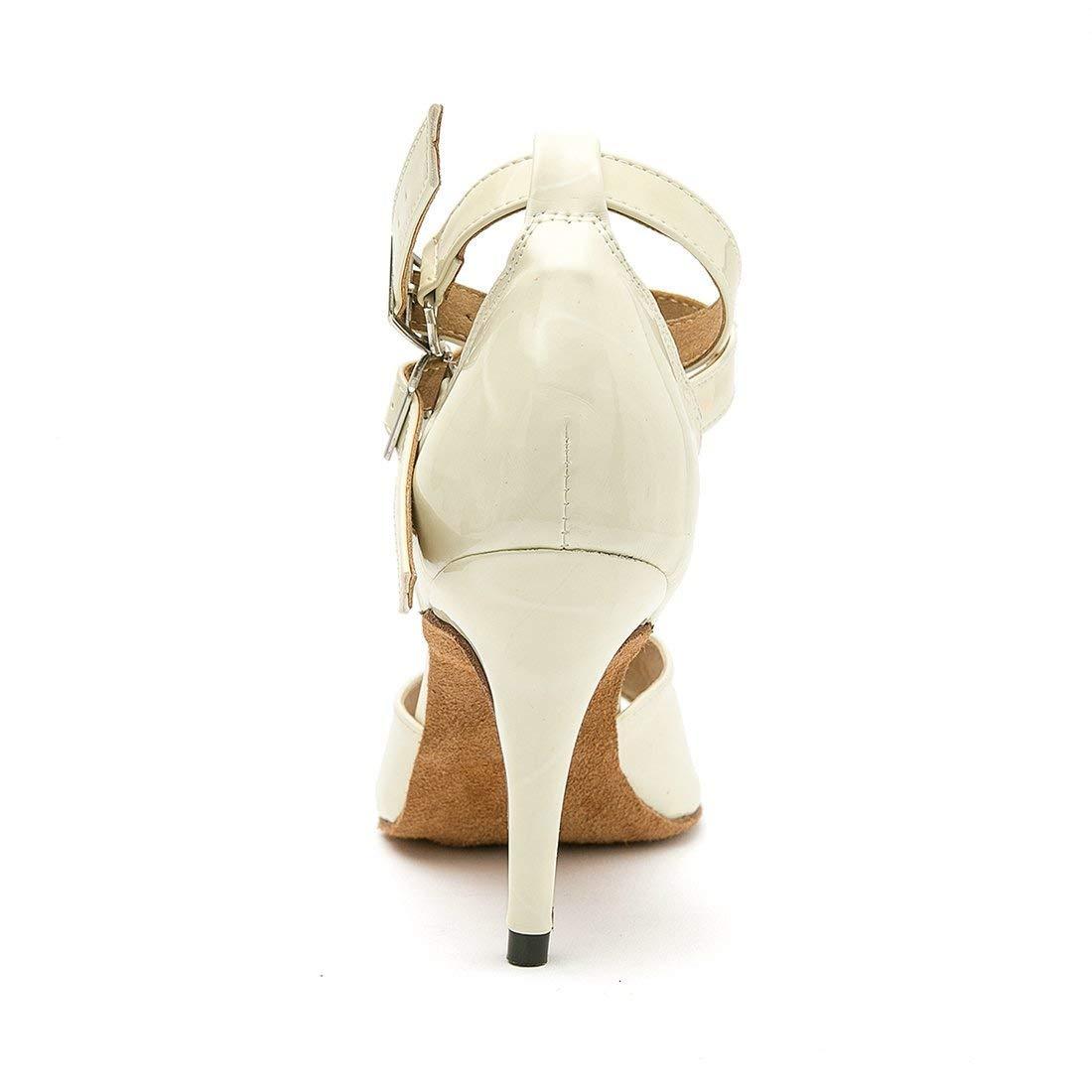 Qiusa Frauen Knöchelriemen Nude Synthetische Synthetische Synthetische Schnalle Latin Dance Sandalen Hochzeit Schuhe UK 6.5 (Farbe   - Größe   -) 4bf270