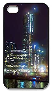 iPhone 4 4s Case, iPhone 4 4s Cases Moscowcity 2 Custom Design PC Hard Plastics Case Cover Protector for iPhone 4 4s Black