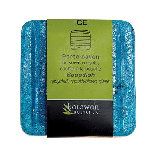 Karawan Seifenschale Ice clear Altglas 8,5 x 8,5 x 1,5 cm