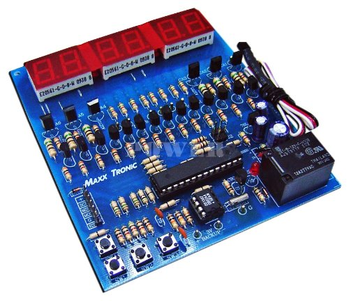 (3 in 1 Digital Clock, Stopwatch, Thermometer 6 Digit LED Seven Segment Display Electronic Circuit Kit : MXA073 )