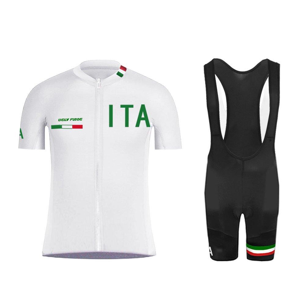 01041477a8b8 Uglyfrog Magliette Jersey Uomo MTB Mountain Bike Manica Corta Camicia Top Abbigliamento  Ciclismo/Body Triathlon Completo Set ...