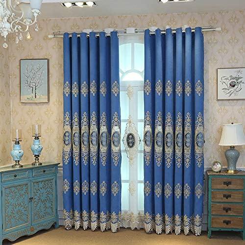 pureaqu Luxury Floral Blackout Curtains