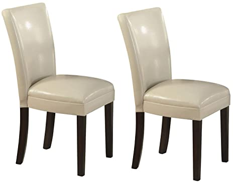 Strange Carter Upholstered Dining Side Chairs Cappuccino And Cream Set Of 2 Short Links Chair Design For Home Short Linksinfo