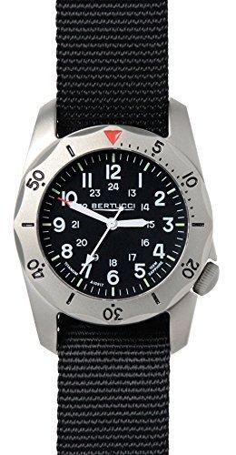Bertucci a-2tr Vintage 12114 - titanio banda negro cuarzo dial reloj: Amazon.es: Relojes