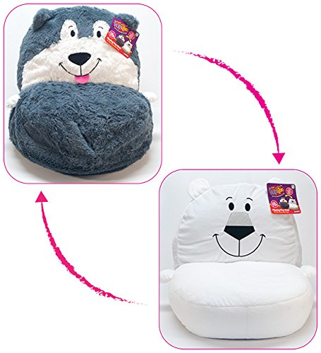 Delicieux FlipaZoo 2 In1 Plush Toddler Chair U2013 Transforms From Husky To Polar Bear U2013  Snuggly Animal