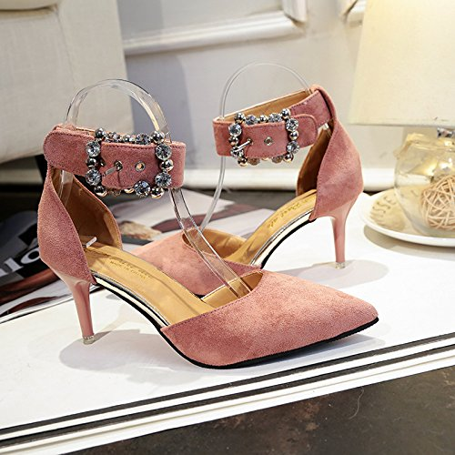 Rose Chaussures Et Dames lgantes Pointues 34 Fines Boucle ngYqfg