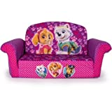 Marshmallow 2-in-1 Flip Open Sofa, Paw Patrol Pink Edition, Made of Polyester PU Foam Material, Soft And Durable, For Kids Ages 18 Months and Up, 6028847