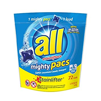 amazon com all mighty pacs laundry detergent stainlifter pouch