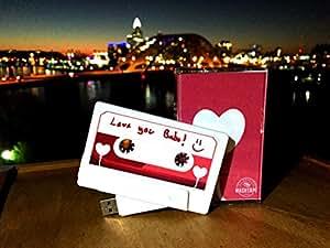 The Original MASHTAPE--Heart Balloon Design for Loved One, 8GB USB Cassette Flash Drive