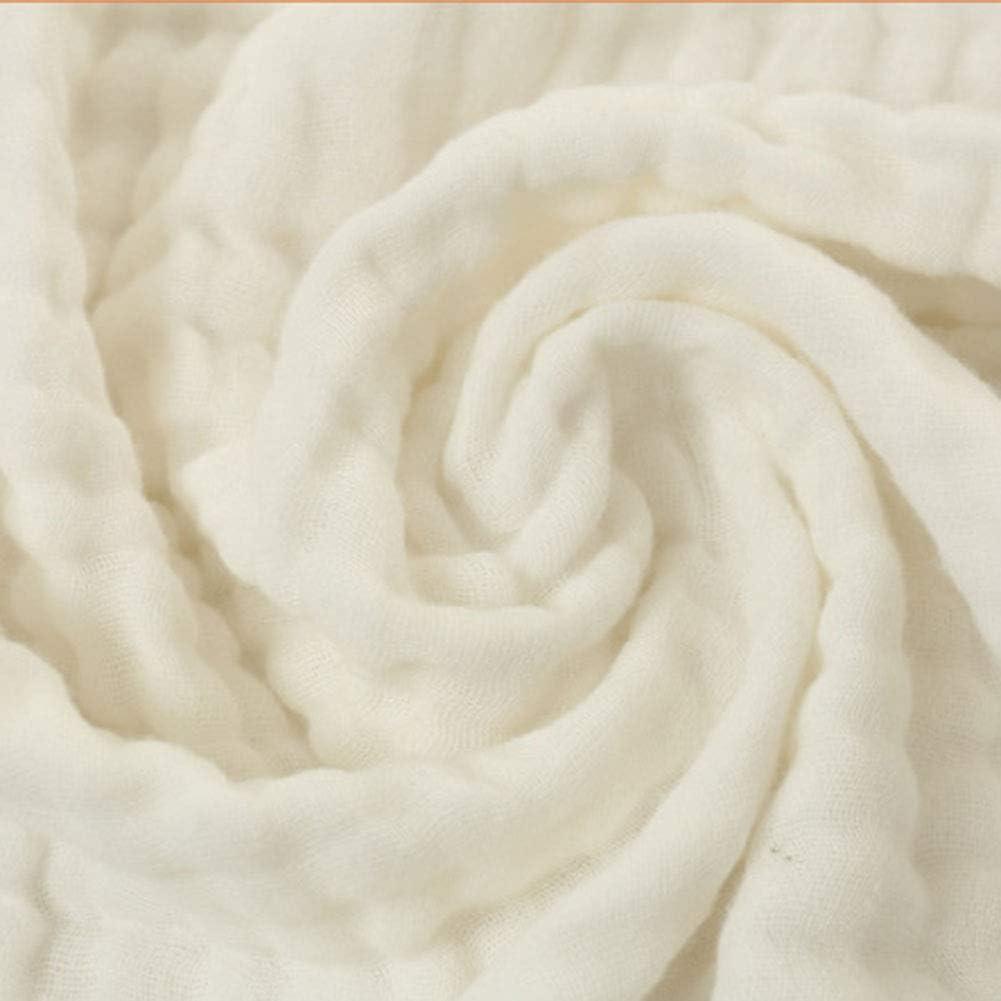 Serviette De Bain Respirante /éCologique FANLIR Couverture B/éb/é 100/% Coton Confortable 105X105CM Forte Absorption deau S/échage Rapide (3Pcs Blanc, Gaze Moelleuse Et Couverture Douce