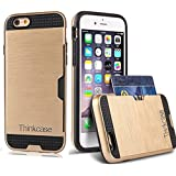 iPhone 6S Case, iPhone 6 Case,Thinkcase iPhone 6S Case Slim Card Slot Protective Cover iPhone 6S Phone Protective Cases Gold Case for iPhone 6S 6 6 4.7inch