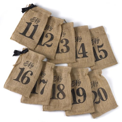 Hortense B. Hewitt 11 to 20 Burlap Table Number Wine Bags (Burlap Wine Bottle Bags compare prices)