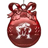 University of Maryland - Pewter Christmas Tree Ornament - Red